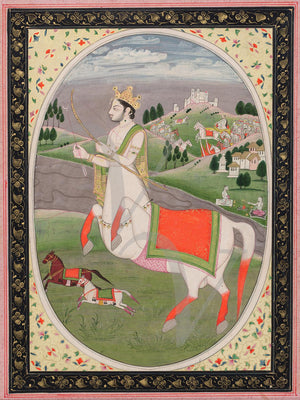 Indian painting of Sagittarius. Himachal Pradesh, Pahari. Fine art print
