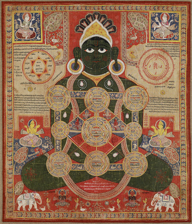 Cosmic Parsvanatha. Indian painting. Fine art print