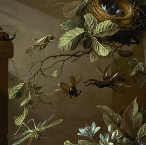 Dark Garden with Flying Insects - Venus Art Prints