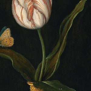 Still Life with Single Tulip. Flower Painting. Fine art print
