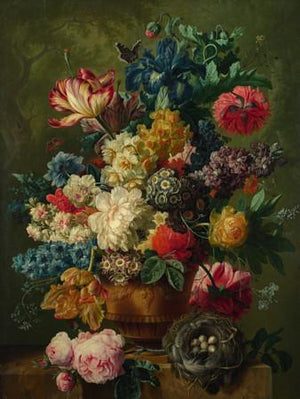 Dutch Still Life Flower Painting. Vase of Flowers. Fine art print