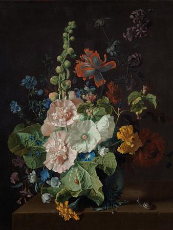 Dark Floral Antique Still Life Painting - Venus Art Prints