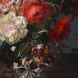 Antique Flowers Still Life Painting. Fine Art Print