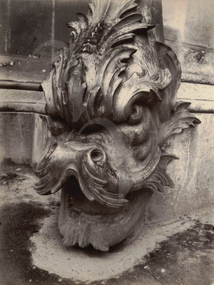 Gargoyle of the Louvre, Paris. Vintage photography by Eugene Atget. Fine Art Print