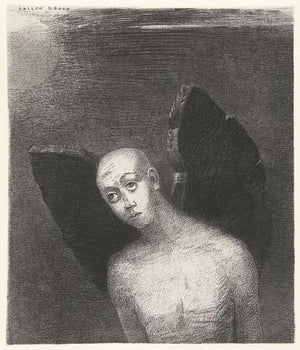 Fallen Angel by Odilon Redon. Fine Art Print