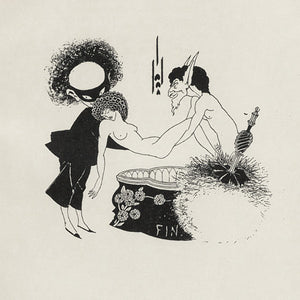Book illustration by Aubrey Beardsley for Oscar Wilde's Salome. Fine art print