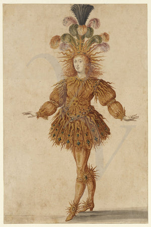 Louis the Sun King French Ballet Costume. Fine art print