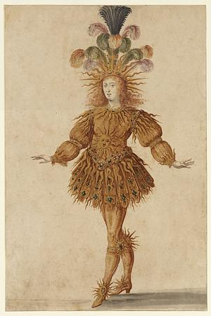 Ballet Costume. Louis the Sun King. Fine Art Print