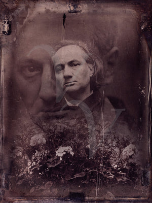 Flowers of Evil. Charles Baudelaire. Original Collage. Fine Art Print