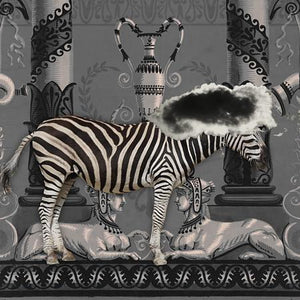 Fanfare abstract zebra. Original collage. Dream art. Fine art print