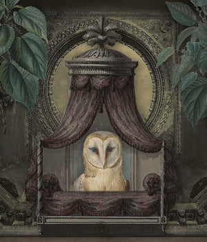Parliament of Owls. Original bird collage. Fine art print