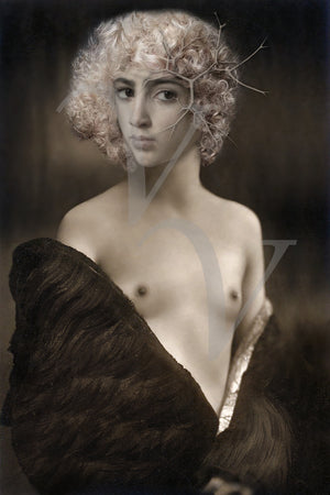 Valentine. Portrait of an androgynous beauty collage. Fine art print