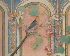 Mythical Garden 6. Bird in Exotic Interior. Fine Art Print