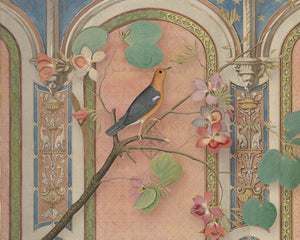 Mythical Garden 6. Bird in Exotic Setting. Fine Art Print