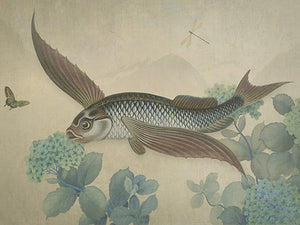 Flying Fish Fine Art Print. Mythical Gardens