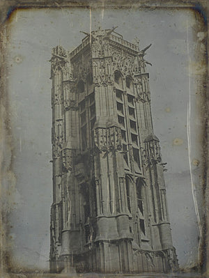 La tour Saint-Jacques, Paris.  Antique daguerreotype. Fine art print