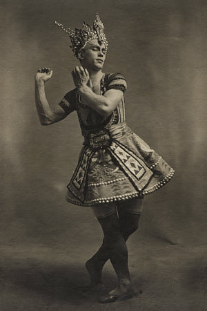 Photograph of Nijinsky, from the Ballet Russes production of Le Dieu Bleu. Fine art print
