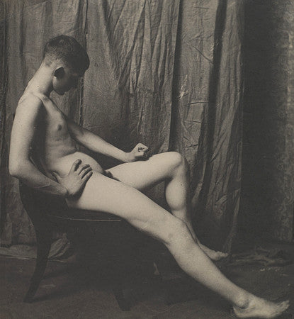 Photograph of a male nude, by photographer Thomas Eakins. Fine art print