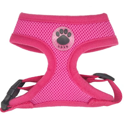 Rubber Adjustable Soft Breathable Vest harness for Pet puppy - trendymal.com