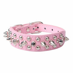 Cheap  Beautiful  Attractive  pet shop dog acessorios  Adjustable Leather Rivet Spiked Studded Pet Puppy Dog Collar Neck Strap
