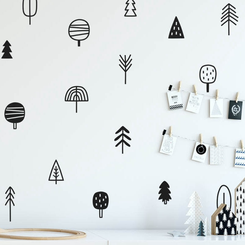 Tree wall decal | cheap wall stickers | wall stencils - trendymal.com