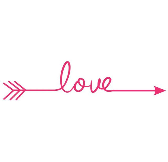 Multiple Colour Love arrow wall decals | Wall sticker for bedroom | Trendy Mal - trendymal.com