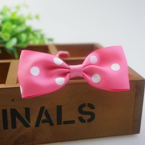 Handmade Dots Pattern Ribbon Dog Bow Ties - trendymal.com