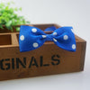 Image of Handmade Dots Pattern Ribbon Dog Bow Ties - trendymal.com