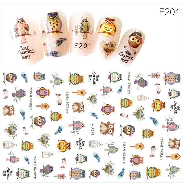 TIMESTREND 1 Sheet 3D Super Thin Nail Stickers Tips Nail Art Adhesive Decals Manicure Tool Dark Decoration Nail Decals - trendymal.com