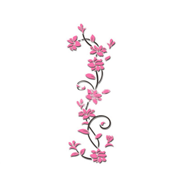 Vine Wall stickers home decor large paper flowers | wall decor stickers | Trendy Mal - trendymal.com