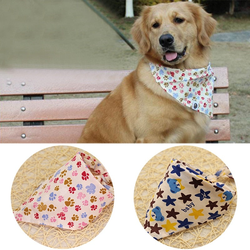 Adjustable Pet Dog Neck Scarf Collar Neckerchief - trendymal.com