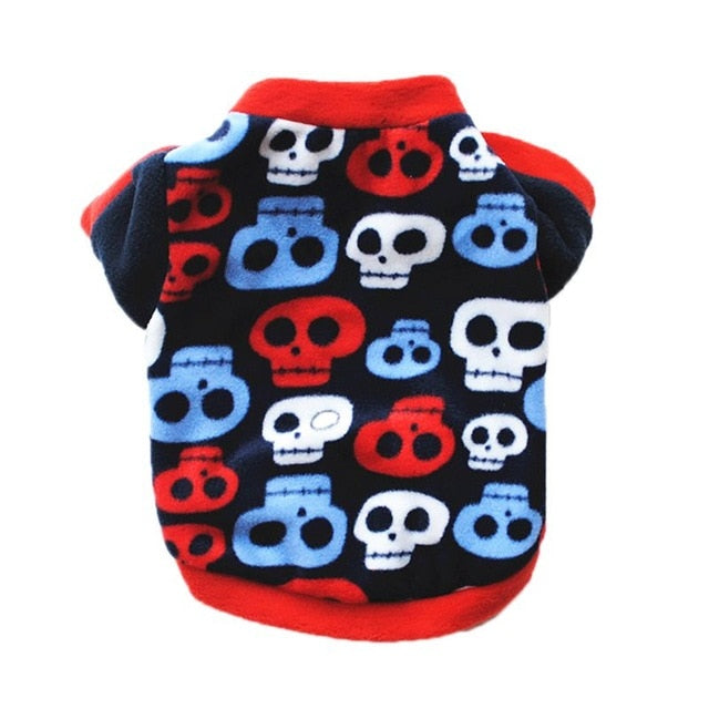 Print Dog Cats Clothes for Small Dogs | Dog coats & jackets| Dog sweaters Costume Soft Chihuahua Clothes - trendymal.com
