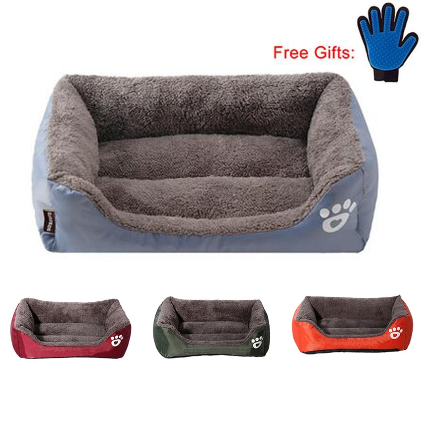 Dog Bed Warming House Soft Material for Fall and Winter with free gift gloves - trendymal.com