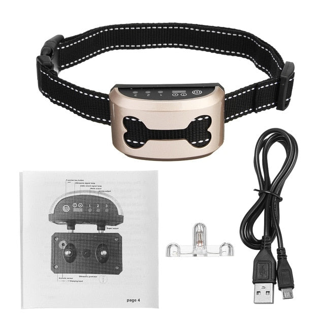 Pet Dog Rechargeable Anti Bark Collar - trendymal.com