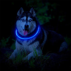 LED Dog Collar Light USB Rechargeable