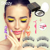 Image of Magnetic eyelashes with 3 magnets magnetic lashes natural false eyelashes - trendymal.com