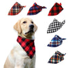 Image of Pet Dog Cat Neck Scarf Adjustable Dog Bandana Tie Bowtie Cotton Plaid Cleaning Towel  For Dog Cat Cats Grooming Accessories - trendymal.com