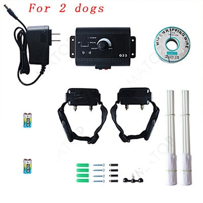 023 Safety Pet Dog Electric Fence With Waterproof Dog Electronic Training Collar Buried Electric Dog Fence Containment System - trendymal.com