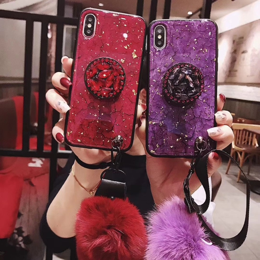 Glitter Retro palace Marble Cases - trendymal.com