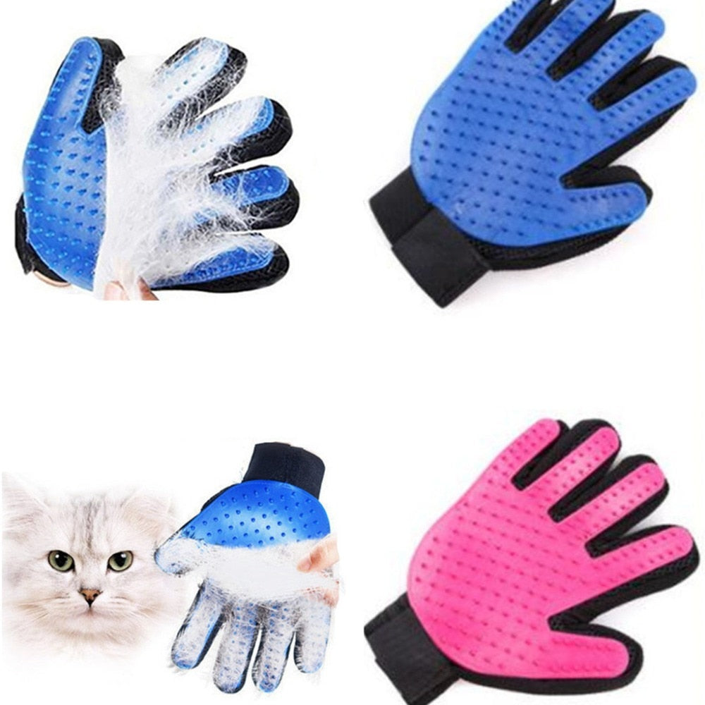 Silicone Dog Glove Grooming Bath Hair Cleaning Comb Efficient Massage - trendymal.com
