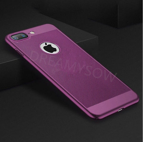Breathing Phone Cases For iPhone 8 7 6 6S Plus Ultra-thin Cooling Hard Plastic Cover for iPhone X Xs Max Xr Heat Dissipate Case - trendymal.com