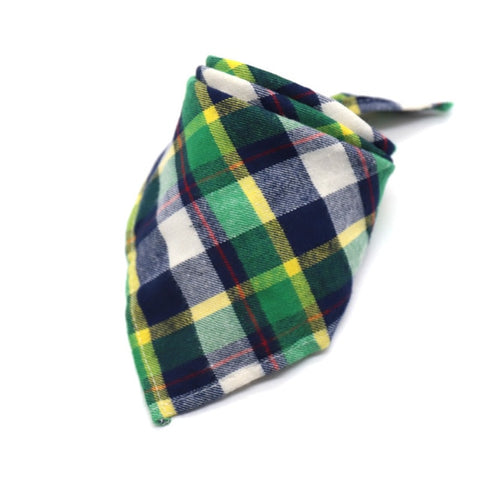 Winter Dog Bandanas Cotton Plaid - trendymal.com