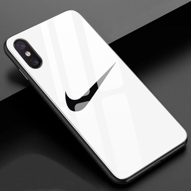 Luxury USA Sports Brand Correct Tick Tempered Glass Case for iPhone - trendymal.com