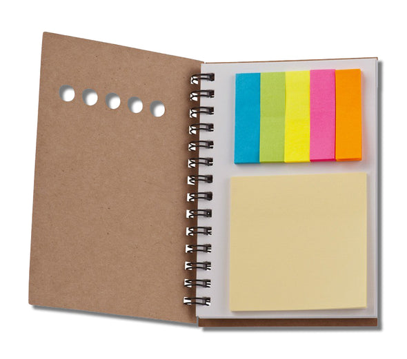 Bloc-notes avec post-it multicolores