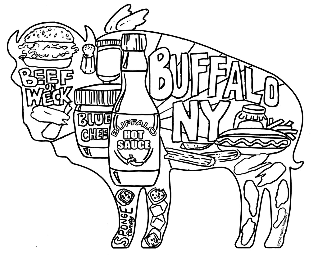 Free Buffalo, New York Coloring Pages