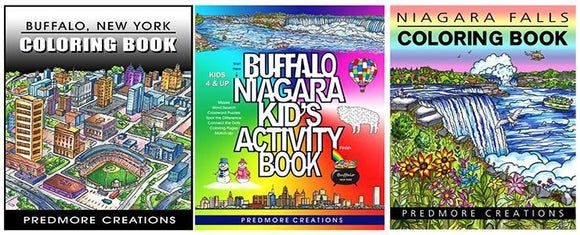 SET OF THREE ACTIVITY & COLORING BOOKS