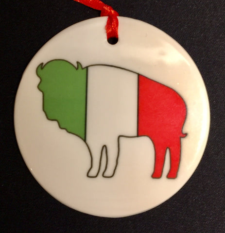 italian buffalo christmas ornament, buffalove, 716 Buffalo ny, buffalo glassware, buffalo gifts, rustic buffalo
