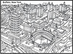Buffalo New York Coloring Book - Digital Download