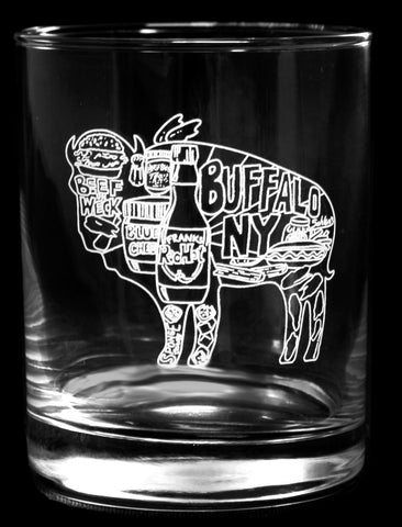 Buffalo Foods Rocks Glass