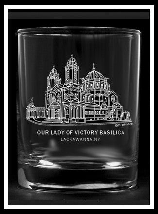 Our Lady of Victory Rocks Glass